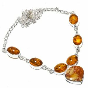 Brecciated-Mookaite-Amber-Gemstone-Handmade-Jewelry-Necklace-18-034-VJ-8555
