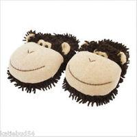 Kids Fuzzy Friends One Size Monkey Brown Slipper Clog Up To Sz 3 Aroma Home