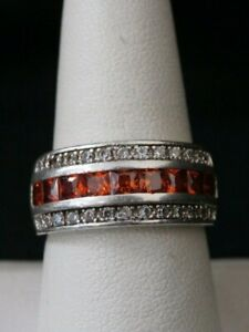 Sterling silver white stone band