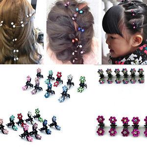 FR-EG-HK-12-pcs-Lot-filles-enfant-doux-strass-fleur-mini-pinces-a-cheveux