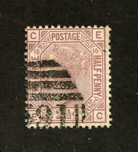 Great-Britain-stamp-67-used-plate-16-Queen-Victoria-SCV-60