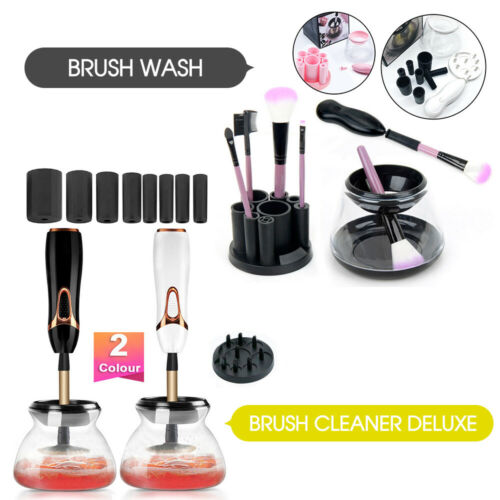 Electric Makeup Brush Cleaner And Dryer Set Includes Brush Collar Stand 2019 New by Unbranded