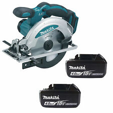 MAKITA 18V LXT DSS611Z CIRCULAR SAW & 2 x BL1840 BATTERIES FUEL CELL INDICATOR