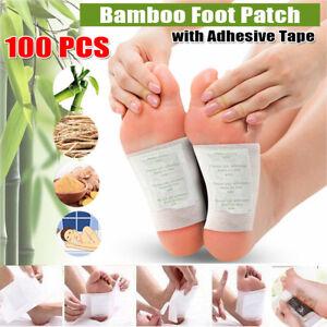 100pcs detox foot pads patch detoxify toxins + adhesive keeping.