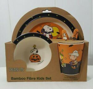 Halloween Peanuts Bamboo Fibre Kids Set Ebay
