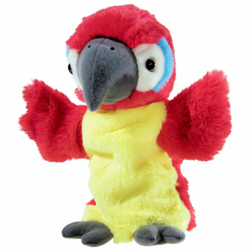 Heunec Friends4ever Handspielpuppe Papagei 394377 Handpuppe Papagei 25cm