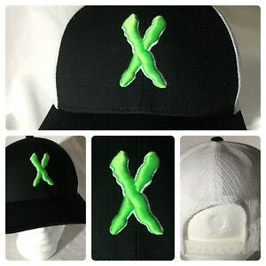 Pacific Headwear Custom Mesh Trucker Hat Adj Black Green