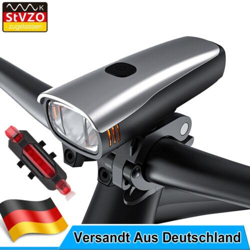 LED Akku Fahrrad Beleuchtung Set 60 LUX Licht StVZO Scheinwerfer Rücklicht Lampe