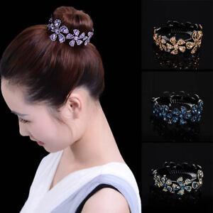 Women-Girls-Hair-Clip-Crystal-Claw-Ponytail-Bun-Holder-Hair-Comb-Hairpin-Fashion