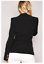 Womens-Double-Breasted-Gold-Button-Front-Black-Military-Style-Blazer-Coat-Jacket thumbnail 6