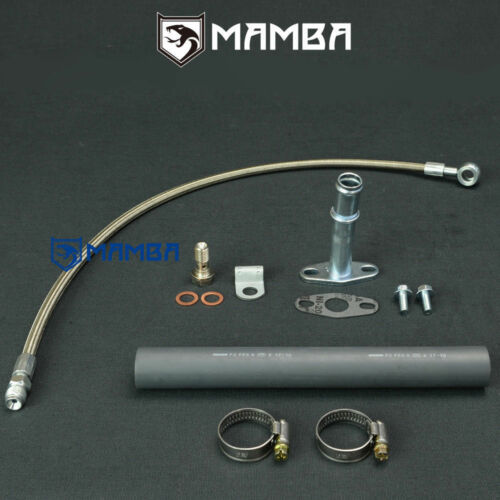 ~99 Mitsubishi 4D56T 2.5L Montero Shogun TF035 TD04 turbo oil feed /& return line