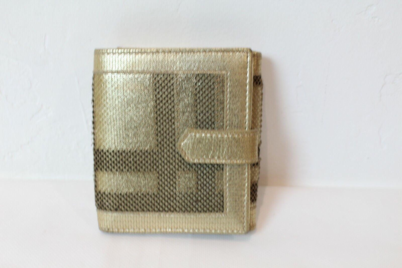 Authentic Burberry Compact Wallet Nova Check Plaid Women