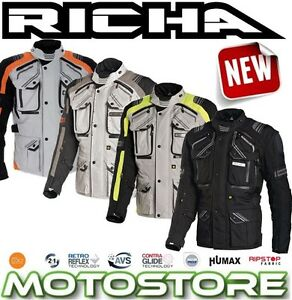 richa touareg jacket waterproof motorcycle adventure touring enduro d3o ce ebay. Black Bedroom Furniture Sets. Home Design Ideas