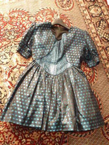Harmattan In Sera Party Woman 42 Vintage Made Italy Dress Abito Seta UxaSUn
