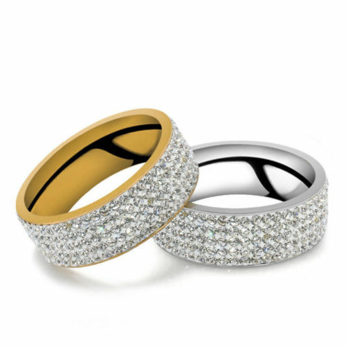Unisex Stainless Steel Ring Size 7-12 Gold Silver Fashion Jewelry Band Ring