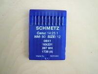 Nähmaschinennadel Schmelz Size: 12