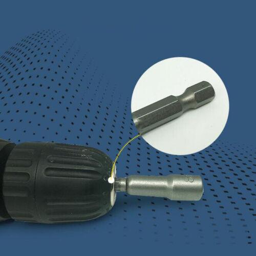 6mm-19mm Drill Bit Socket Magnetic Nut Driver Set Adapter 6.35mm Hex Shank New
