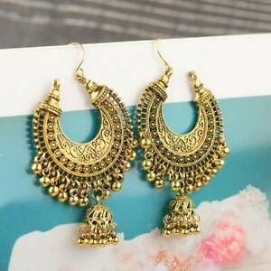 Fashion Indian Jhumka Gypsy Jewelry Gold Boho Vintage Ethnic