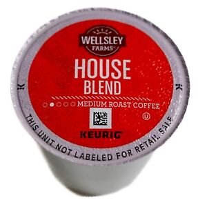 Wellsley-Farms-House-Blend-Coffee-100-Arabica-Medium-Roast-Keurig-K-Cup-Pods