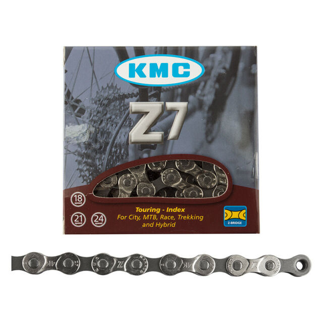 KMC Z7 Bicycle Chain Silver//Gray, 1//2 x 3//32 - Inch, 116 Links