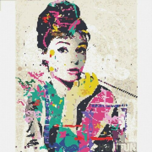 Audrey Hepburn Art Full Drill 5D Diamond Painting Embroidery Cross Crafts Kits