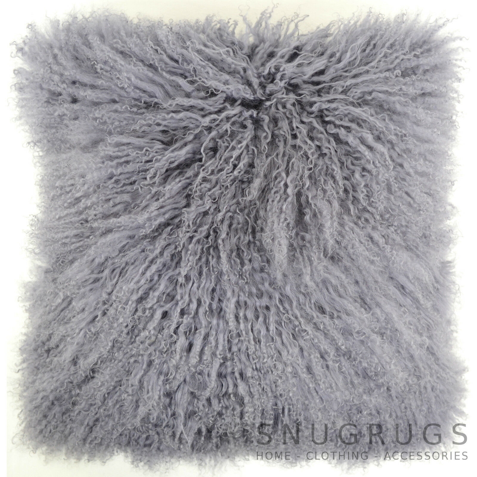 Mongol Long Bouclé laine Peau de mouton coussin / / / Oreiller & intérieur - 60 x 1831b6