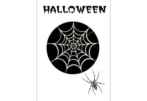 HALLOWEEN STENCIL The Spiders Web A4/A3/A2/A1/A0 350 micron HALL008