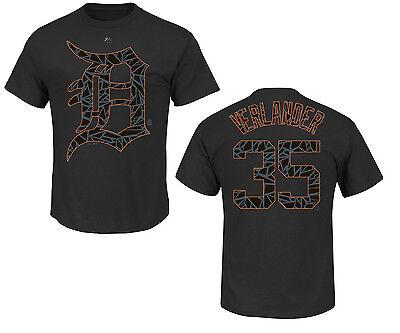 Weitere Ballsportarten Aktiv Mlb Baseball T-shirt Detroit Tigers Verlander 35 Shades Victory Trikot Jersey