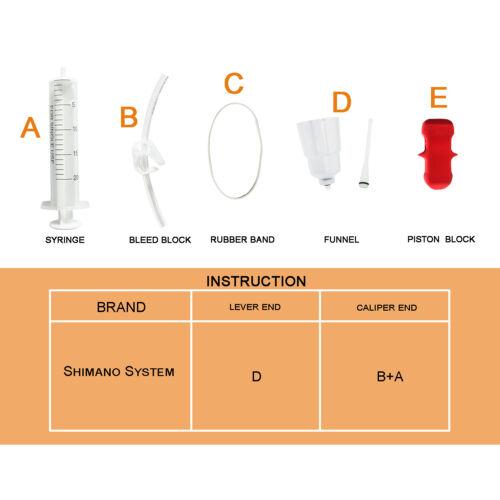Bicycle Hydraulic brake bleed kit for shimano brake system Funnel Stopper Set