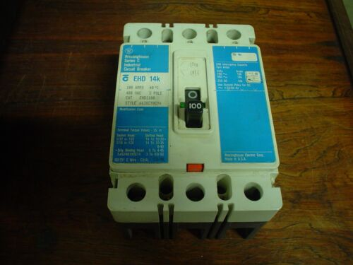 Used Westinghouse EHD3100L Line /& Load Lugs 100 amp 3pole 480 vac 60 day war