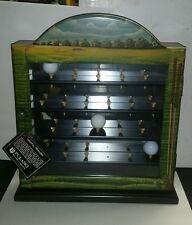 Pulaski Brand Golf Ball Display Cabinet Tee Hand Painted Wall or Free Standing