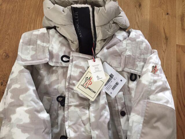 Moncler Grenoble para hombre Arcachon acolchado abajo abrigo chaqueta con capucha Tamaño 3 medio 40