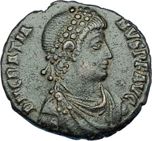 GRATIAN-Genuine-378AD-Antioch-Authentic-Ancient-Roman-Coin-ROMA-Seated-i65876