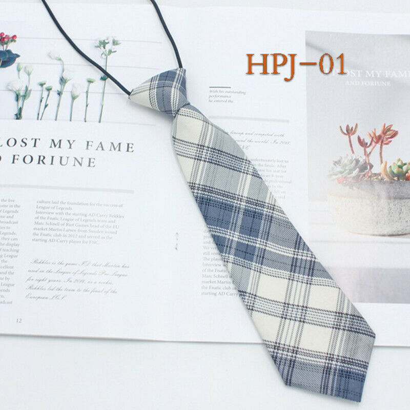 1PC Plaid College Style Tie Fashionable Small Fresh Sweet Clothing Accessories