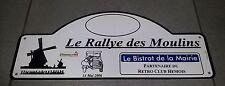 PLAQUE LE RALLYE DES MOULINS RETRO CLUB HEMOIS 2006 CITROEN TRACTION JEEP US
