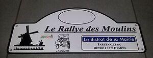PLAQUE-LE-RALLYE-DES-MOULINS-RETRO-CLUB-HEMOIS-2006-CITROEN-TRACTION-JEEP-US