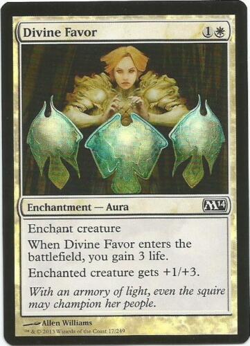1x Foil Magic the Gathering MTG Magic 2014 M14 Divine Favor