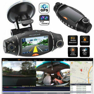 Dual-Lens-Vehicle-GPS-Video-Camera-Recorder-Car-DVR-Dash-Cam-Night-Vision-Rear