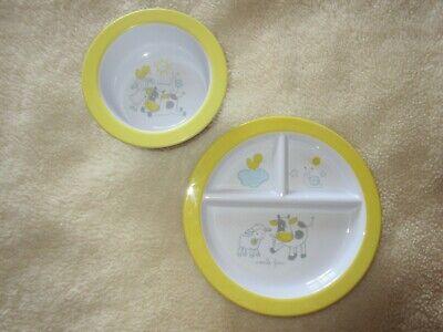 Gewidmet 2 Teiliges Tcm Tchibo Baby Essteller Und Müsli/breischale Schnelle Farbe