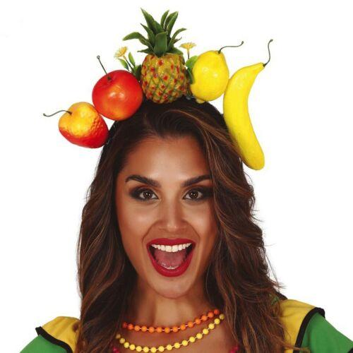Samba Haarreif tropische Früchte Rio Haarreifen Früchtehut Obst Diadem Hawaii