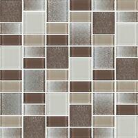 Fusion Brown Glass Mosaic Tiles - Backsplash/bathroom Tile - Squares/rectangles
