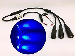 Micro Effects Light 3X blue LED & control flash blink 9V prop models MELKITB-5B