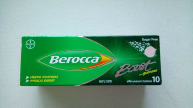 Berocca Boost with guarana 10 effervescent tablets physical energy SEE BELOW PLS