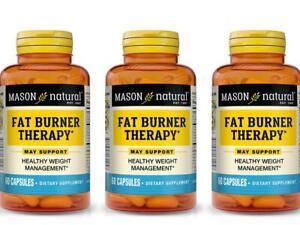 3 X 60 = 180 CAPSULES FAT BURNER THERAPY CHROMIUM PICOLINATE weight management