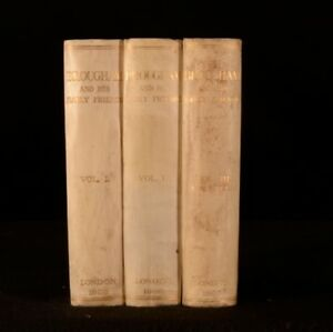 1908-3vols-Brougham-and-His-Early-Friends-First-Edition-Privately-Printed