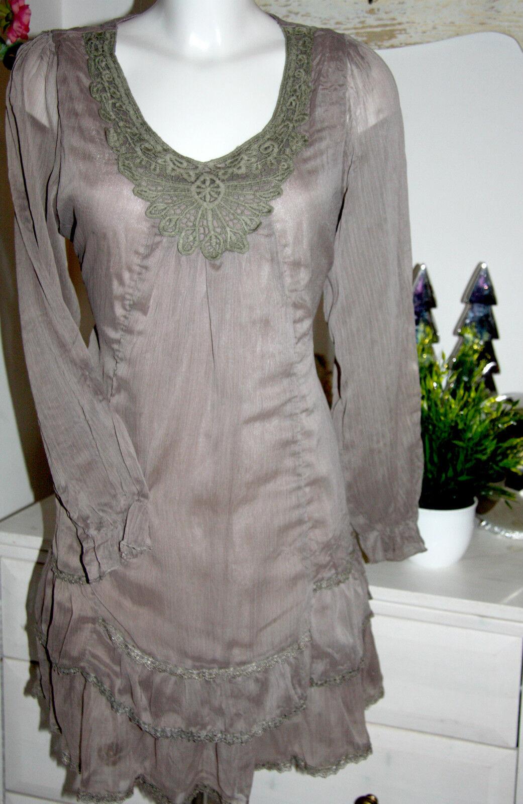Nostalgia túnica dress vestido de manga manga manga larga Dark taupé Talla  L-XL CNC. 40-44 nuevo 56ea1c