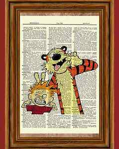 Image Is Loading Calvin And Hobbes Dictionary Art Print Book Page