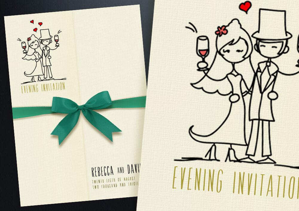 100 mariage Personnalisé gatefold invitations de mariage 100 dont un choix de ruban de satin 651c67