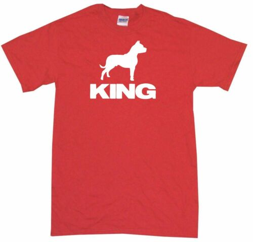 Pit Bull Dog Silhouette King Mens Tee Shirt Pick Size Color Small-6XL