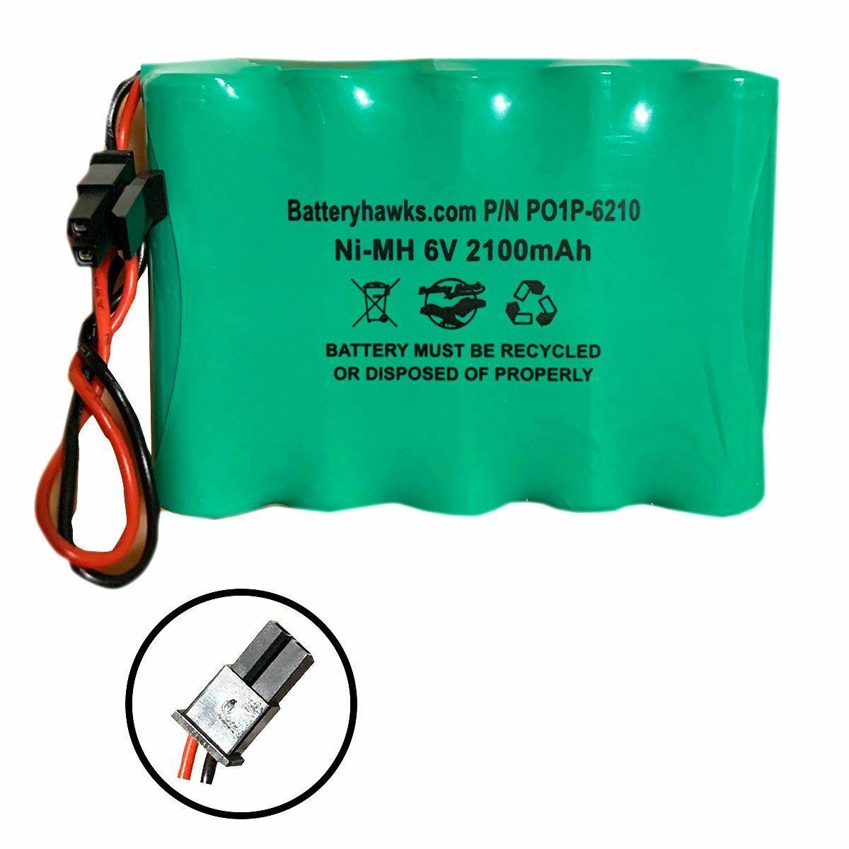 Simon XTi 6v 2100mAh Battery Pack Replacement for Simon XTi Alarm Panel